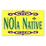 New Orleans Themed Rectangle Sticker 10 pk)