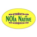 New Orleans Themed Oval Sticker