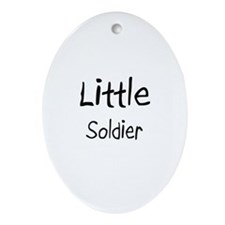 Little Soldier Oval Ornament