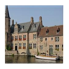 Brugge Boat Tile Coaster