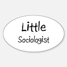 Little Sociologist Oval Decal