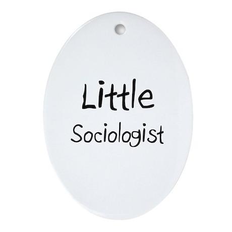 Little Sociologist Oval Ornament