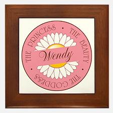 Wendy Princess Beauty Goddess Framed Tile