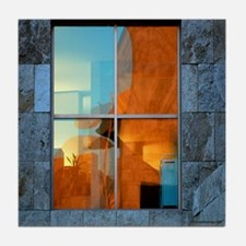 Abstract in a Window Tile Coaster