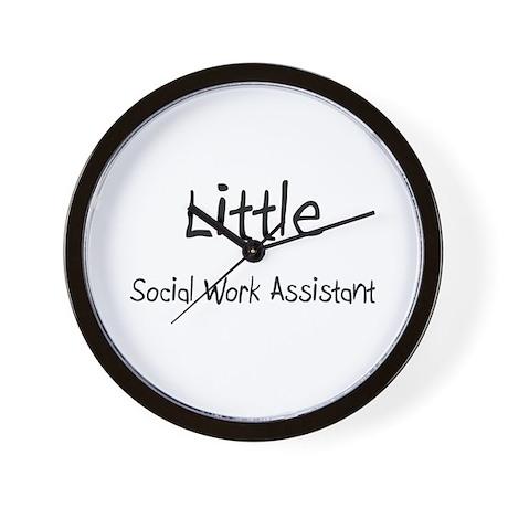 Little Social Work Assistant Wall Clock