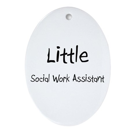 Little Social Work Assistant Oval Ornament