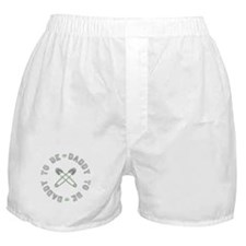 Daddy to Be Non Gender Green Boxer Shorts