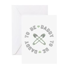 Daddy to Be Non Gender Green Greeting Card