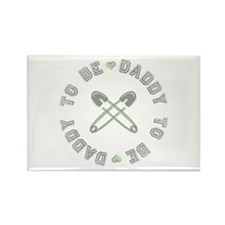 Daddy to Be Non Gender Green Rectangle Magnet