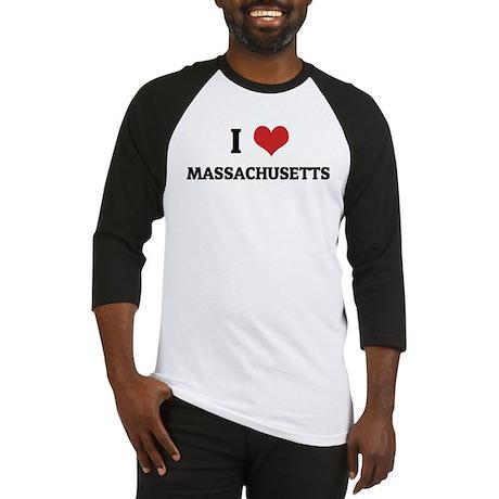I Love Massachusetts Baseball Jersey
