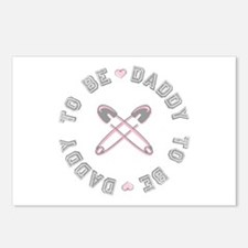 Daddy to Be Pink Girl Postcards (Package of 8)