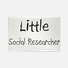 Little Social Researcher Rectangle Magnet
