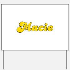 Retro Macie (Gold) Yard Sign