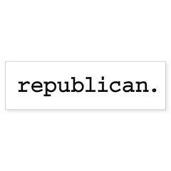 republican. Bumper Sticker (10 pk)