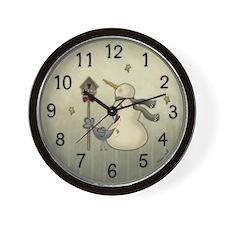 Sweet Snowman Wall Clock