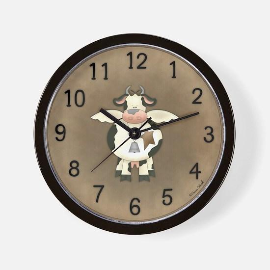 Primitive Cow Clock