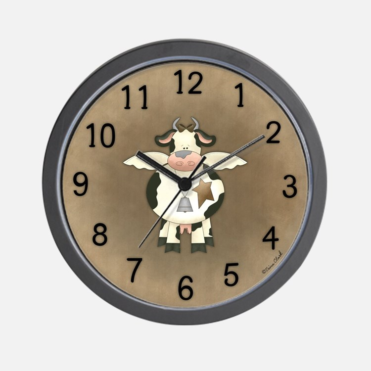 primitive cow clock. beautiful ideas. Home Design Ideas