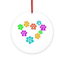 Colorful paws Canhardly Keepsake (Round)