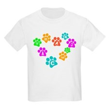 Colorful paws Canhardly Kids T-Shirt