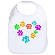 Colorful paws Canhardly Bib
