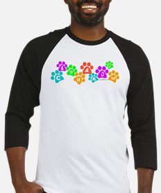 Colorful paws Canhardly Baseball Jersey