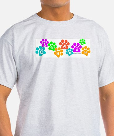 Colorful paws Canhardly Ash Grey T-Shirt