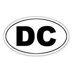 DC (Washington DC) Oval Sticker