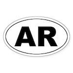 AR (Arkansas) Oval Sticker