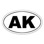 AK (Alaska) - Oval Sticker