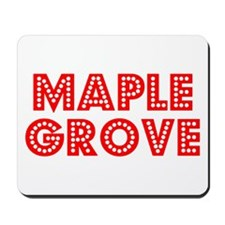 Retro Maple Grove (Red) Mousepad