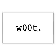 w00t. Rectangle Sticker 50 pk)