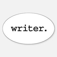 writer. Oval Sticker (50 pk)