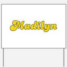 Retro Madilyn (Gold) Yard Sign