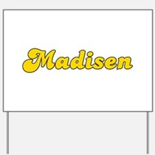 Retro Madisen (Gold) Yard Sign