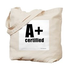 A Plus Certified Tote Bag