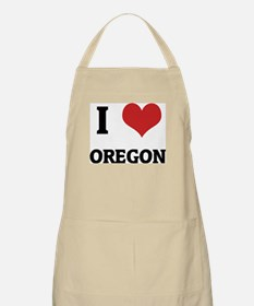 I Love Oregon BBQ Apron