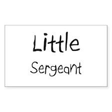 Little Sergeant Rectangle Decal