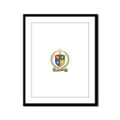 VIENNEAU Family Crest Framed Panel Print