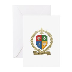 VIENNEAU Family Crest Greeting Cards (Pk of 10)