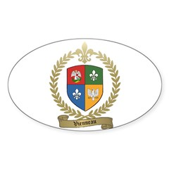 VIENNEAU Family Crest Oval Decal