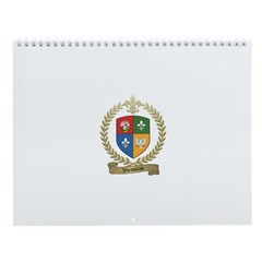 VIENNEAU Family Crest Wall Calendar