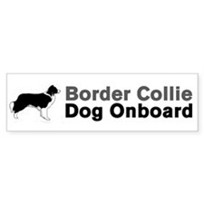 Border Collie Dog Onboard Bumper Bumper Sticker