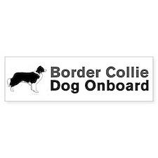 Border Collie Dog Onboard Bumper Bumper Stickers
