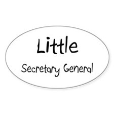 Little Secretary General Oval Decal