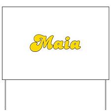 Retro Maia (Gold) Yard Sign