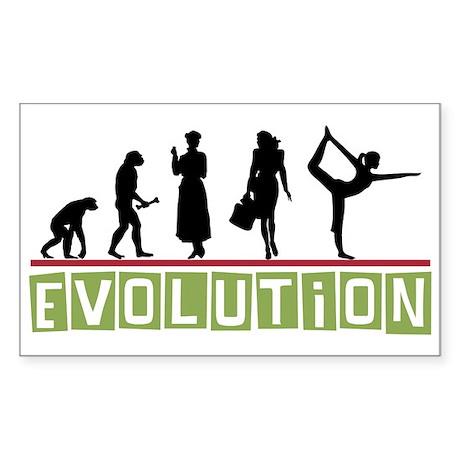 Evolution Yoga Rectangle Sticker
