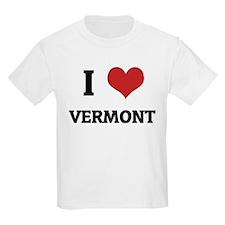 I Love Vermont Kids T-Shirt