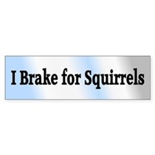 I Brake for Squirrels 6 Bumper Bumper Sticker