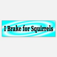 I Brake for Squirrels 4 Bumper Bumper Bumper Sticker