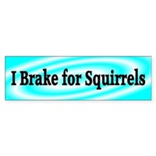 I Brake for Squirrels 4 Bumper Bumper Sticker